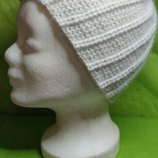 Mütze weiß 100 % Alpaka