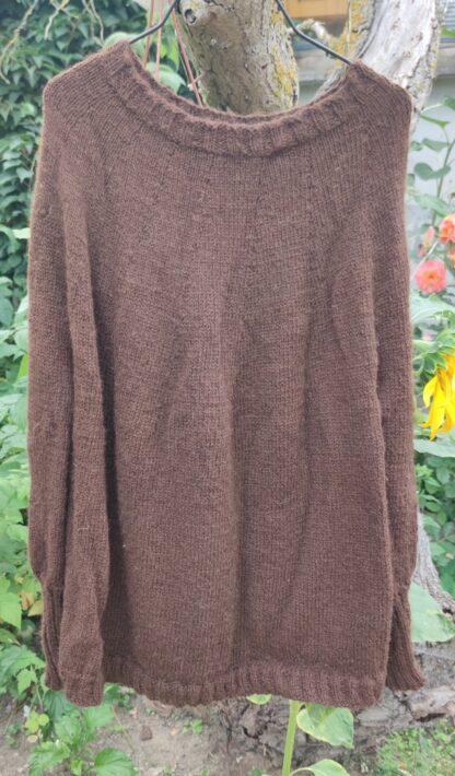 Pullover braun 100% Alpakawolle